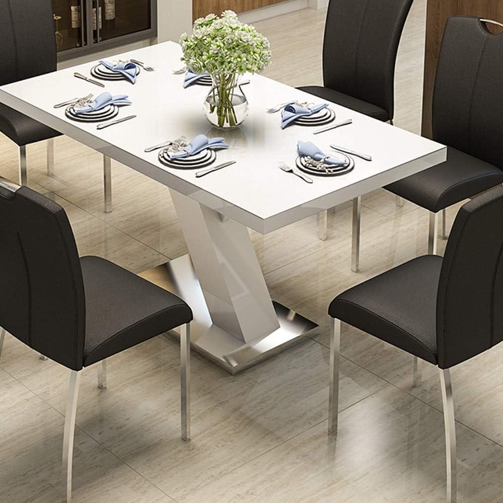 QINGMM Chaise À Dîner Moderne De Style Contemporain Blanc Noir Beige Faux Cuir Et Chrome De Cuisine en Métal Chirs, Home Chaise De Bureau,Blanc Beige
