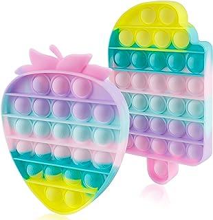 Sponsored Ad - 2 Packs Push Bubble Pop Fidget Sensory it Toys, Figit Set Silicone Figetget Popits, Autism Special Needs An...