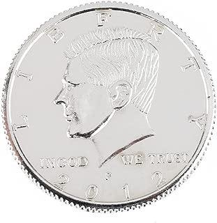 【手品グッズ】 マジックマグネットコイン フリップ式デザイン 磁気付き ケネディ・ハーフダラー・コイン アメリカ50セント  折畳式 シルバー