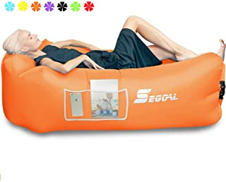 SEGOAL Inflatable Lounger Air Sofa Couch with Pillow,...