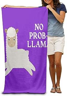 SHEERY Beach Towel No Prob Llama Absorbent Pool Towel Bath Towel