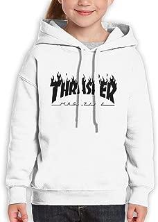 Thrasher Kids' Hooded Youth Sweatshirt Teens White