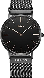Mens Women Unisex Quartz Analog Watch Waterproof Business Luxury Fashion Simple Design Wristwatch Magnetic Band(Black)