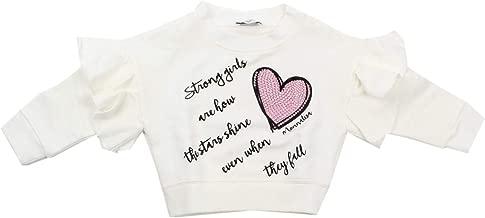 MONNALISA Fashion Bambina 194603SE Panna T-Shirt Inverno