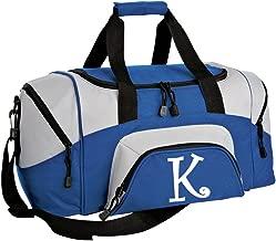 SMALL Personalized Gym Bag Monogrammed Duffel Bag Custom Printed Initial Royal