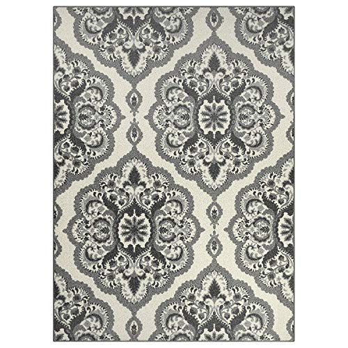 Maples Rugs Area Rugs - Vivian 7 x 10 Non Slip Large Rug [Made in USA] for Living Room, Bedroom, and Dining Room, 7' x 10', Grey