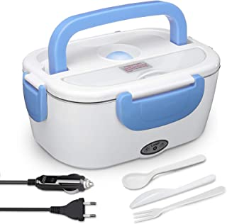AUTOPkio Boîte Chauffante Lunch Box 1.5L Électrique Boîte à Lunch Thermique 12V 24V 220V 40W 3 en 1 Boîte Alimentaires Boî...