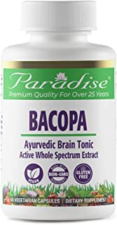 Paradise Organic Bacopa Monniera (Brahmi) Extract - 100% Naturally Extracted - The Way Nature Intended -Ayurvedic Brain To...