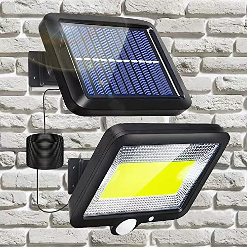 Lampade solari per esterni – 100 faretti LED esterni con sensore di movimento, lampada solare da parete per giardino, impermeabile, 3 modalità di 120°, super luminose,per scale,giardini,terrazze