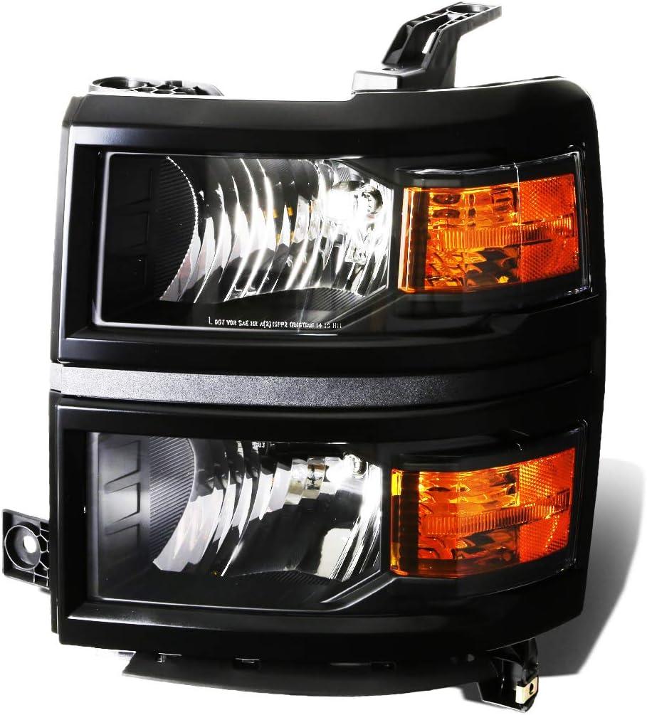 超人気 DNA Motoring 限定モデル OEM-HL-0028-L Black Amber Side Factory Style Driver
