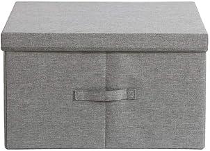 JUAN Laundry Basket Storage Boxes With Lids,Cube Storage Box With Handles,Cotton Fabric Collapsible Storage Box,Storage Bi...