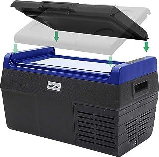 Setpower EA20 21 Quarts Portable Freezer Fridge 12V Cooler, -4℉ to 68℉, Car Fridge Compact Refrigerator, for Truck, Van, R...