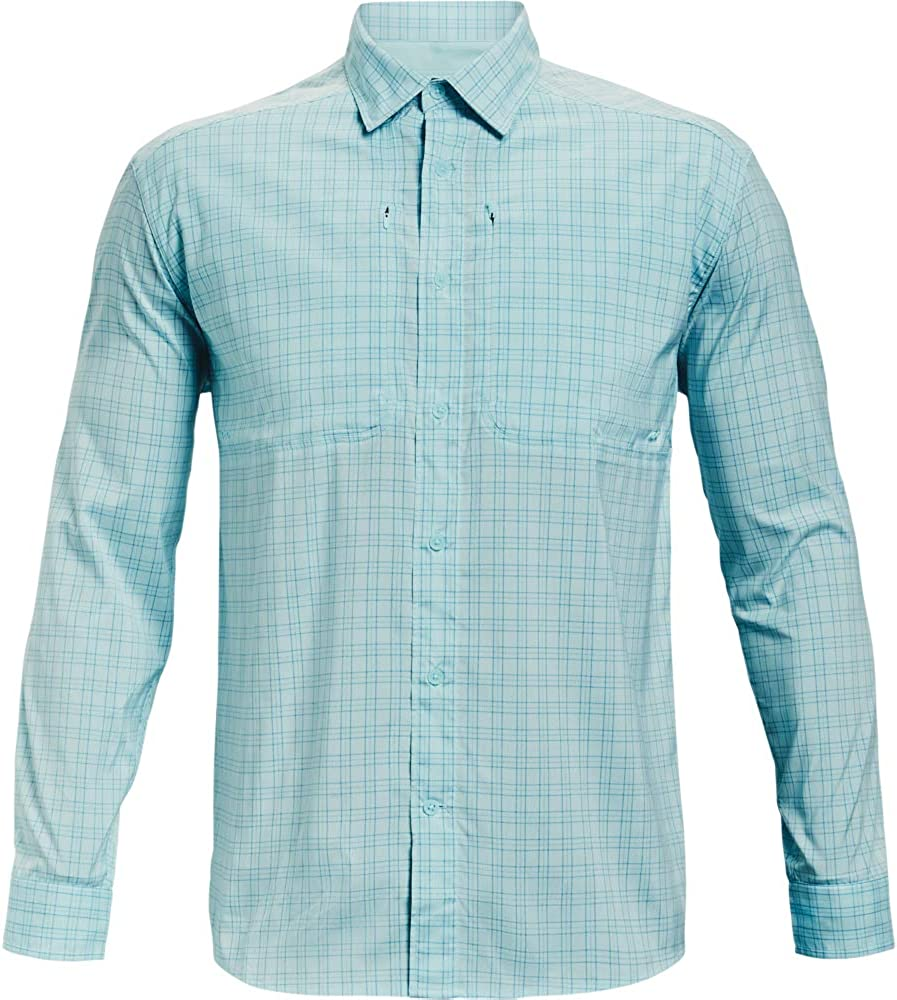 Under Armour Men's Popular brand Tide Chaser 2.0 Plaid T-Shir Large discharge sale Fish Long-Sleeve