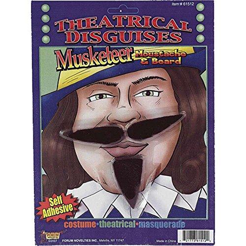 Musketeer Fake Moustache & Beard