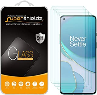 (3 Pack) Supershieldz for OnePlus 8T 5G Tempered Glass Screen Protector, Anti Scratch, Bubble Free