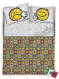 Gipetex Quadrifoglio - Completo Lenzuola 1 Piazza E Mezza Smile Faccine Emotion