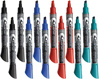 Quartet Dry Erase Markers, Whiteboard Markers, Chisel Tip, EnduraGlide, BOLD COLOR, Assorted Colors, 12 Pack (5001-18M)
