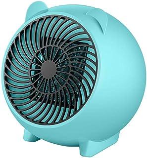 Yuan Dun'er Calefactor Aire Caliente Pared,Calentador Espacial Calentador portátil de Invierno Ventilador Calentador eléctrico Personal para Calentadores pequeños de cerámica para el hogar-Azul