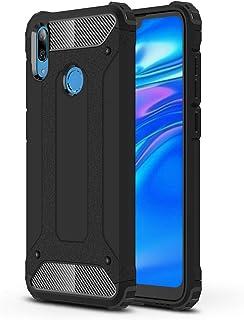 جراب FanTing لهاتف Huawei Y7 2019، [مقاوم للصدمات] [شديد التحمل] [مدرع صلب] جراب مدرع مزدوج الطبقات قوي وقوي سميك، أربع زو...