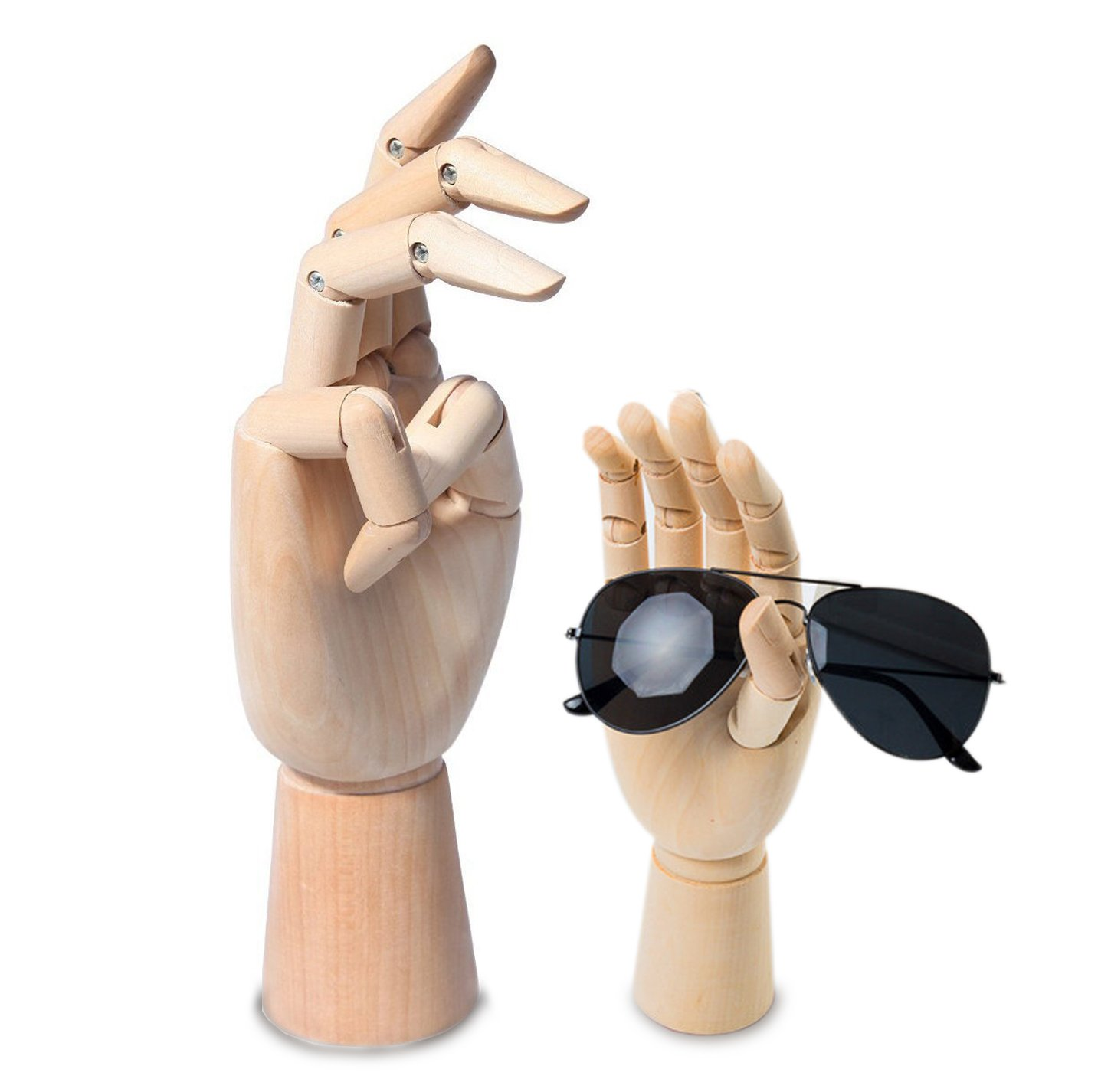 2 Assorted Size Large /& Small Wooden Hand Artist Drawing Manikin Joint Mannequin