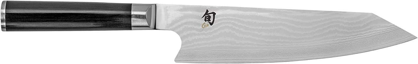 Shun Classic 8-Inch Kiritsuke Kitchen Knife; Chef's Knife With 68 Layers of Stainless Damascus Steel Cladding; Handcrafted in Japan; Multi-purpose Knife Handles Full Range of Kitchen Tasks