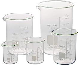 3.3 لیوان شیشه ای بورو گریفین کم فرم علمی -50 میلی لیتر ، 100 میلی لیتر ، 250 میلی لیتر ، 500 میلی لیتر ، 1000 میلی لیتر (بسته 5)
