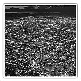 Impresionantes pegatinas cuadradas (juego de 2) 10 cm BW – Bogotá Colombia City Cityscape Fun Decals para portátiles, tabletas, equipaje, reserva de chatarras, frigoríficos, regalo fresco #42611