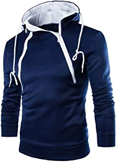 XWLY Men's Pullovers with A Hood Slim Fit Sweatshirt Fitness Running Mountaineering Sport Tops Spring and Autumn Casual Sl...