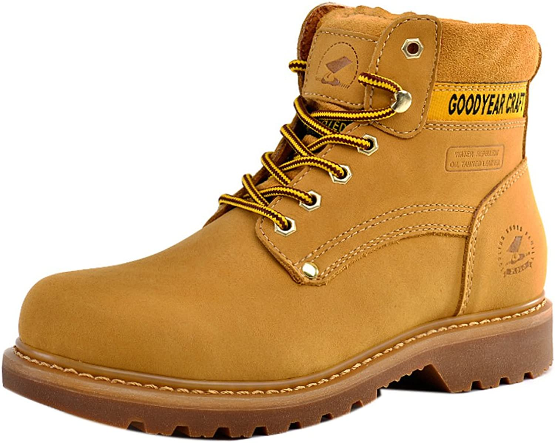 Insun Men's Cowhide Leather Outdoor Work Boots