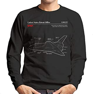 NASA Space Shuttle Orbiter Blueprint Men's Sweatshirt