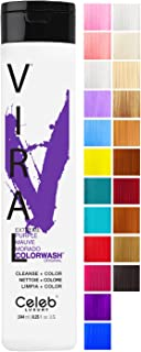 Celeb Luxury Intense Color Depositing Colorwash Shampoo + BondFix Bond Rebuilder, Vegan, Sustainably Sourced Plant-Based, Semi-Permanent, Viral and Gem