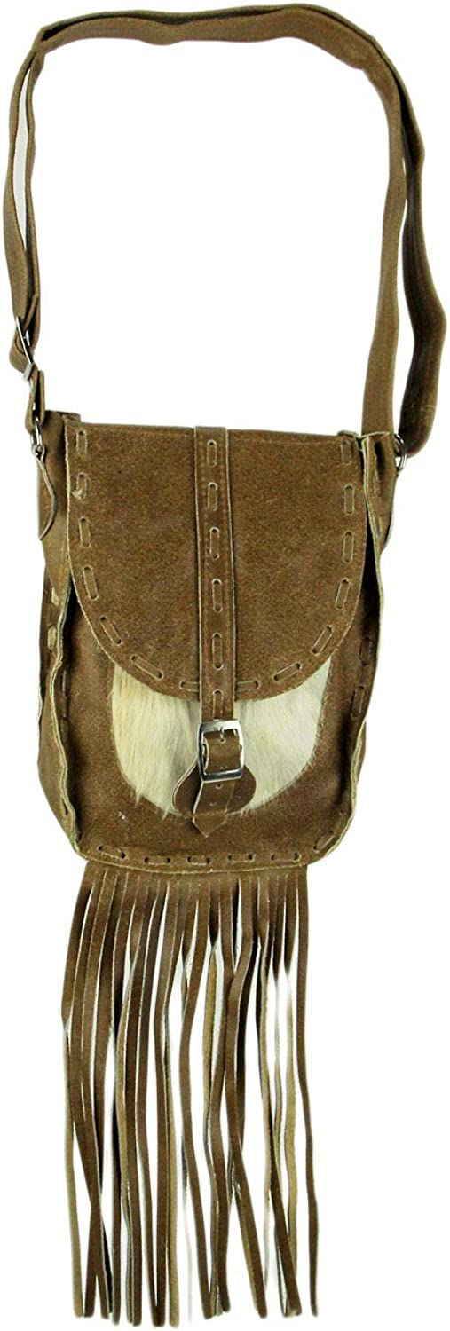SALE Hair on Hide Cross Body with Mixed Leather and Clip on Adjustable Messenger StrapFallBohoClutch