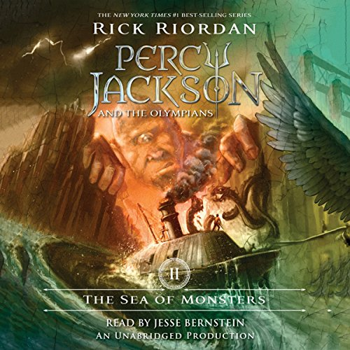 The Sea of Monsters     Percy Jackson and the Olympians, Book 2              Written by:                                                                                                                                 Rick Riordan                               Narrated by:                                                                                                                                 Jesse Bernstein                      Length: 7 hrs and 56 mins     80 ratings     Overall 4.8