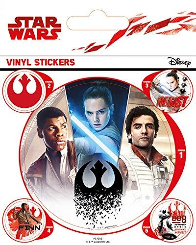 1art1 Star Wars Poster-Sticker Autocollant - Épisode VIII, Les Derniers Jedi, Rebels (12 x 10 cm)