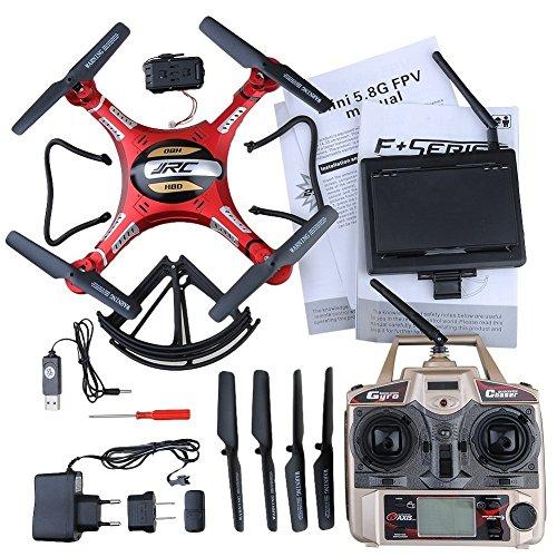 kingtoys Haibei JJRC H8D Elicottero Drone 4 Canale 2.4ghz Gyro di Rc Quadcopter 5.8G Immagine Trasmissione Rc Esploratori Quad Copter Drone con 2MP HD modalità Camera Headless FPV