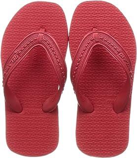 Relaxo Plus Unisex Kid's Red Black Slippers-12 Kids UK (30.5 EU) (CU0023C_RDBK0012)