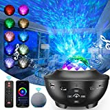 Night Light, Star Projector, Galaxy Projector, Ocean Wave Projector Bluetooth Music Speaker for Baby Bedroom, Game Rooms, Party, Home Theatre, Light Projector Ambiance, Birthday, Wedding