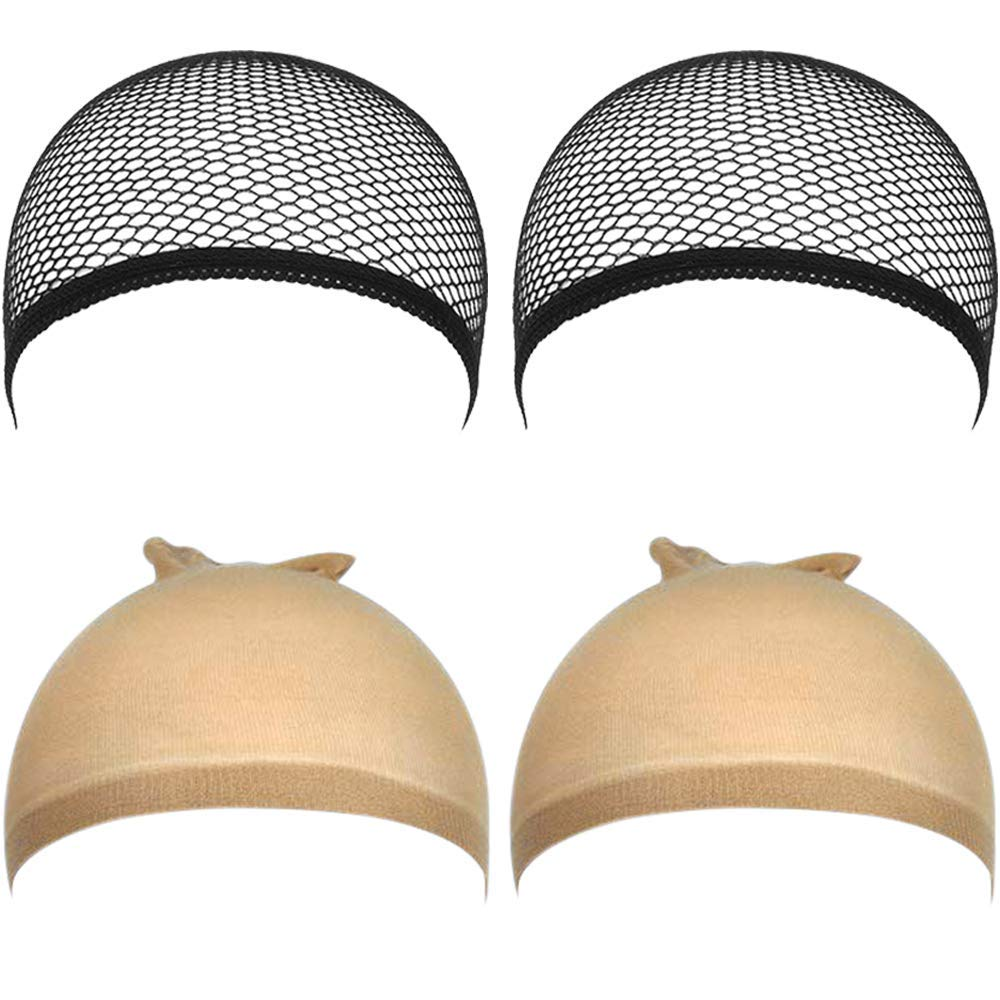Wig Caps Discount mail order for Lace Front Stocking Wigs 2 Max 40% OFF 4pcs Women