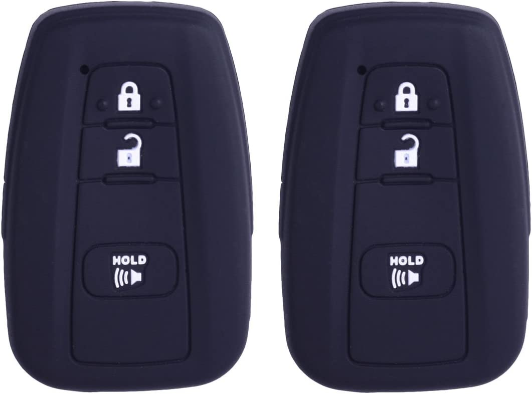 2Pcs XUHANG Sillicone Oakland Mall key fob Remote Case Cover Skin Protect Mesa Mall
