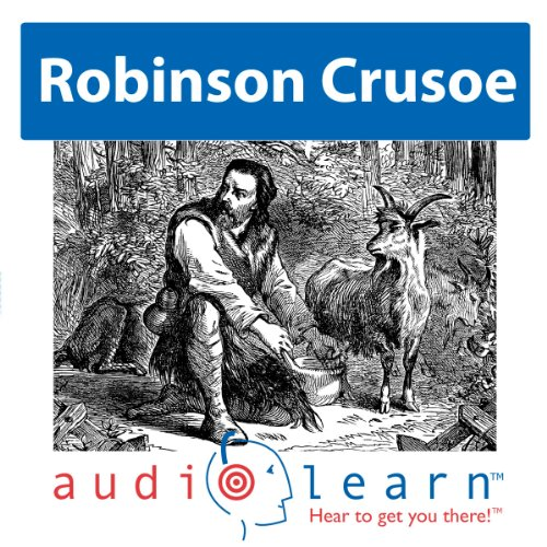 Robinson Crusoe by Daniel Defoe audiobook cover art