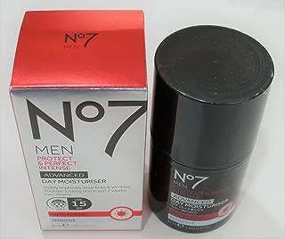 NO7 MEN'S PROTECT & PERFECT INTENSE ADVANCED MOISTURISER SPF 30 1.69 FL. OZ