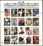 American Illustrators, Full Sheet of 20 x 34-Cent Postage Stamps, USA 2001, Scott 3502