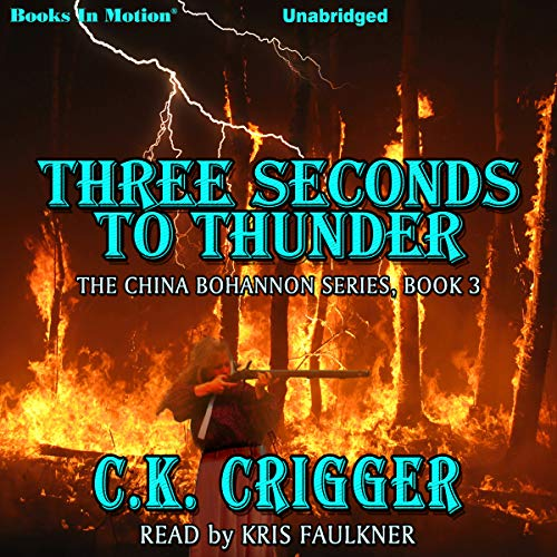 Three Seconds to Thunder audiobook cover art