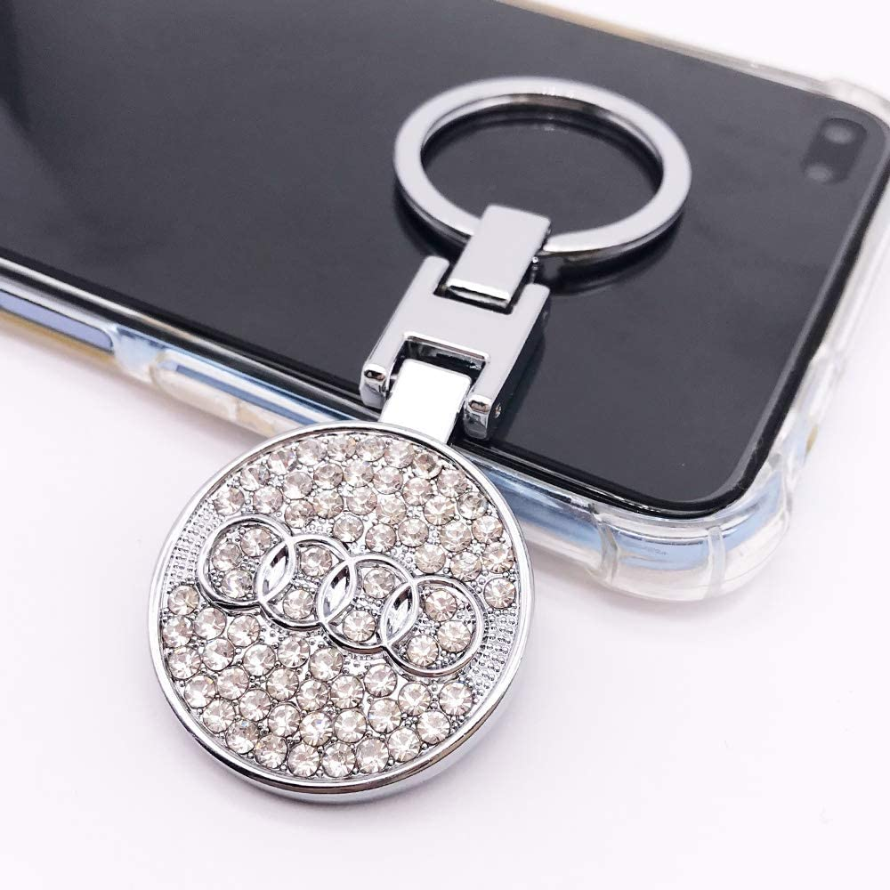 Key Chain Ring Chrome Metal Family Present Gifts For Lexus Car 3D Metal Emblem Pendant Double Side Zircon Crystal Decoration Lanyard Keychains Accessories