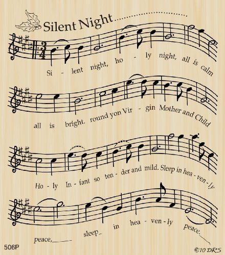 Silent Night Sheet Music Rubber Stamp by DRS Designs