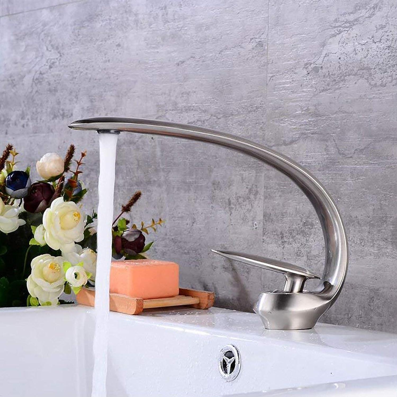 MWPO Badzubehr, einfach zu bedienen und benutzerfreundlich Bad Eitelkeit Wasserhahn, hei und kalt Wasserhahn, Messing gebürstet Waschbecken Wasserhahn, einzigartiges Design