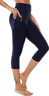 High Waist Yoga Capris Leggings Yoga Pants Workout Running 4 Way Stretch Yoga Pants w/Pocket