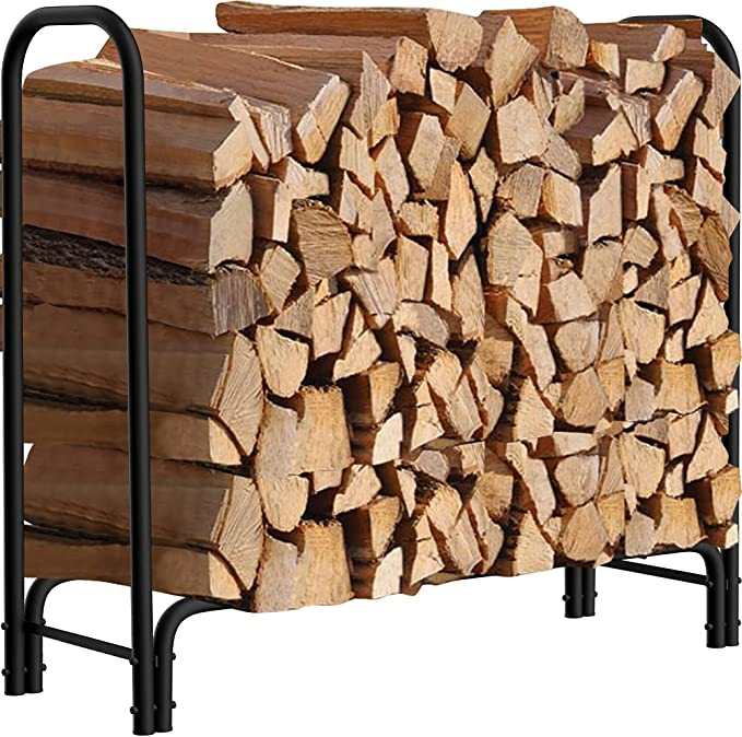 Amagabeli Garden and Home 4ft Outdoor Log Rack - Durability