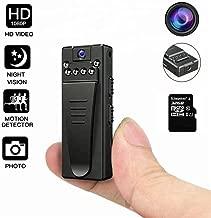 DEXILIO Mini cámara Corporal, Grabador de Video portátil portátil HD 1080P inalámbrico con Clip, cámara espía de Seguridad pequeña para el hogar y la Oficina (con Tarjeta de 32GB)