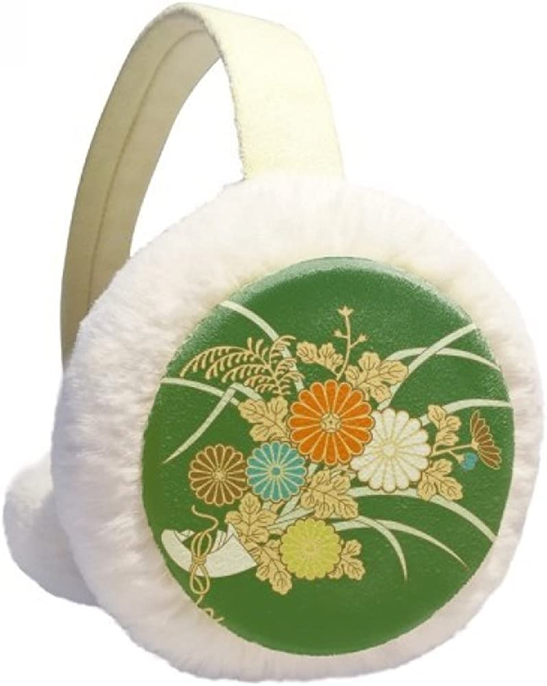 Autumn Japanese Yellow Flower NEW Winter Warmer Ear Furry Genuine Free Shipping Cable Knit